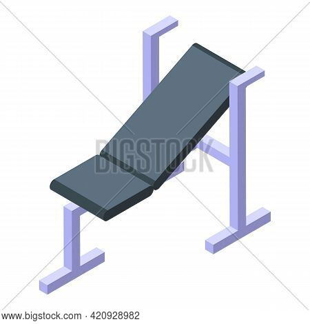 Fitness Equipment Icon. Isometric Of Fitness Equipment Vector Icon For Web Design Isolated On White