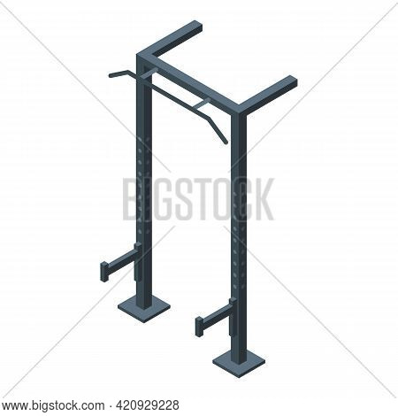 Workout Equipment Icon. Isometric Of Workout Equipment Vector Icon For Web Design Isolated On White