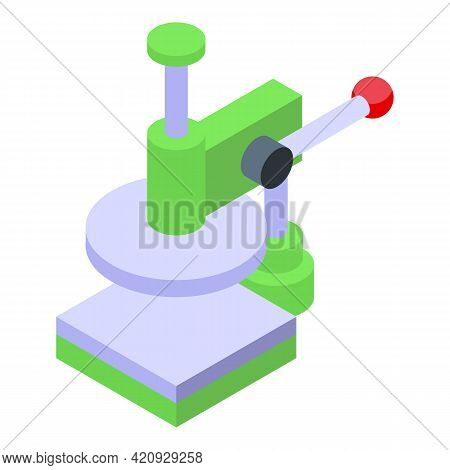 Press Machine Icon. Isometric Of Press Machine Vector Icon For Web Design Isolated On White Backgrou