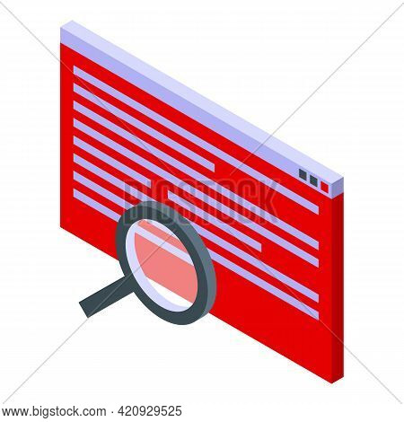 Scan Malware Icon. Isometric Of Scan Malware Vector Icon For Web Design Isolated On White Background