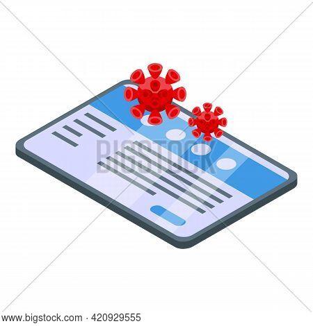 Malware Virus Icon. Isometric Of Malware Virus Vector Icon For Web Design Isolated On White Backgrou