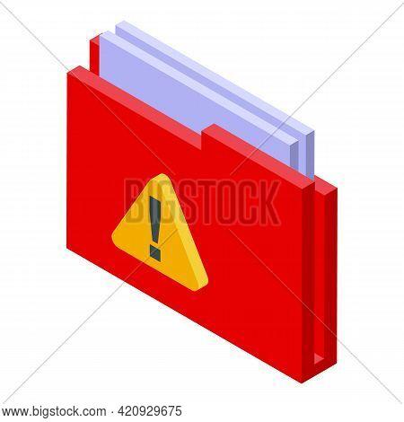 Malware Folder Icon. Isometric Of Malware Folder Vector Icon For Web Design Isolated On White Backgr