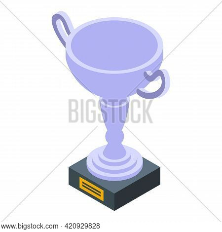 Award Trophy Icon. Isometric Of Award Trophy Vector Icon For Web Design Isolated On White Background