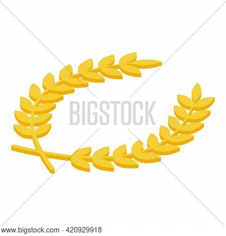 Laurel Wreath Icon. Isometric Of Laurel Wreath Vector Icon For Web Design Isolated On White Backgrou