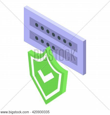 Login Password Protection Icon. Isometric Of Login Password Protection Vector Icon For Web Design Is