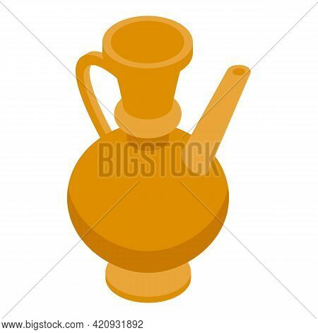 Egypt Pitcher Icon. Isometric Of Egypt Pitcher Vector Icon For Web Design Isolated On White Backgrou