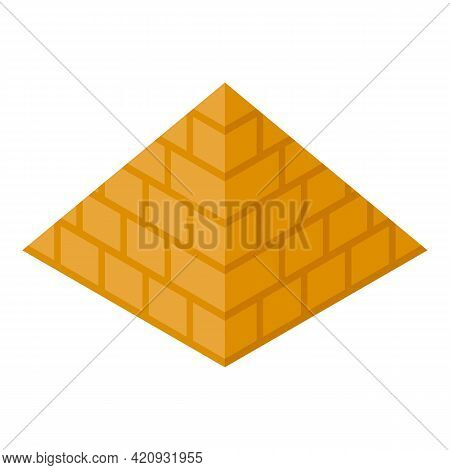 Egypt Pyramid Icon. Isometric Of Egypt Pyramid Vector Icon For Web Design Isolated On White Backgrou