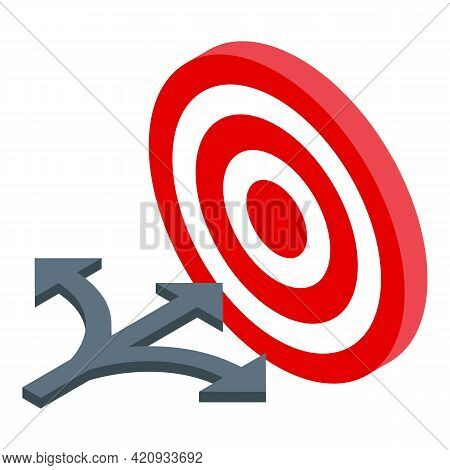 Successful Career Target Icon. Isometric Of Successful Career Target Vector Icon For Web Design Isol
