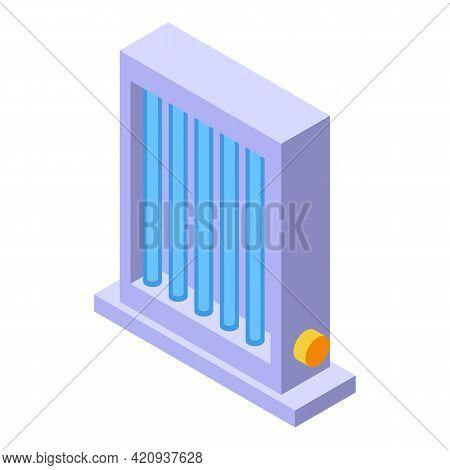Solarium Desktop Lamp Icon. Isometric Of Solarium Desktop Lamp Vector Icon For Web Design Isolated O