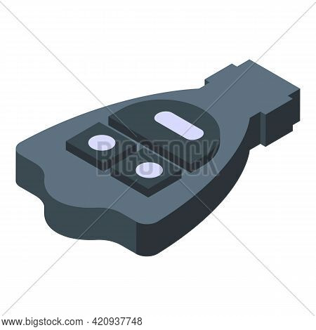 Smart Car Key Ride Icon. Isometric Of Smart Car Key Ride Vector Icon For Web Design Isolated On Whit
