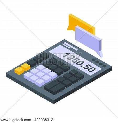 Calculator Car Buying Icon. Isometric Of Calculator Car Buying Vector Icon For Web Design Isolated O