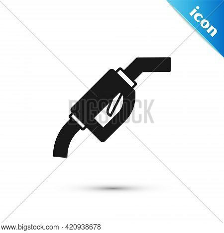 Grey Gasoline Pump Nozzle Icon Isolated On White Background. Fuel Pump Petrol Station. Refuel Servic