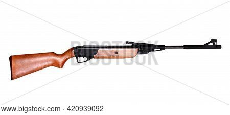 Pneumatic Rifle Gun Isolated Over White Background