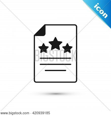 Grey Declaration Of Independence Icon Isolated On White Background. Vector