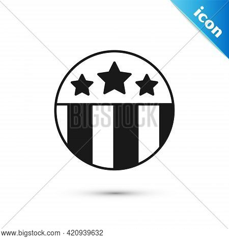 Grey Medal With Star Icon Isolated On White Background. Winner Achievement Sign. Award Medal. Vector