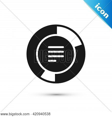 Grey Pie Chart Infographic Icon Isolated On White Background. Diagram Chart Sign. Vector