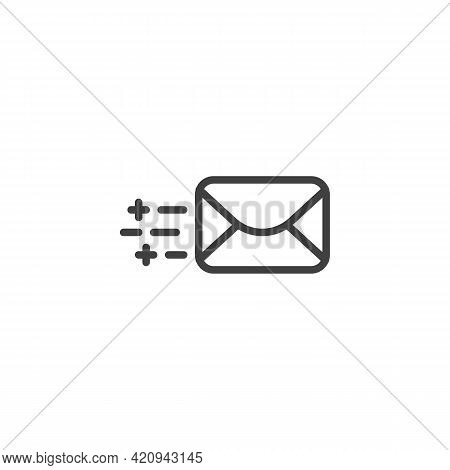 Send Email Line Icon. Linear Style Sign For Mobile Concept And Web Design. Message Sending Outline V