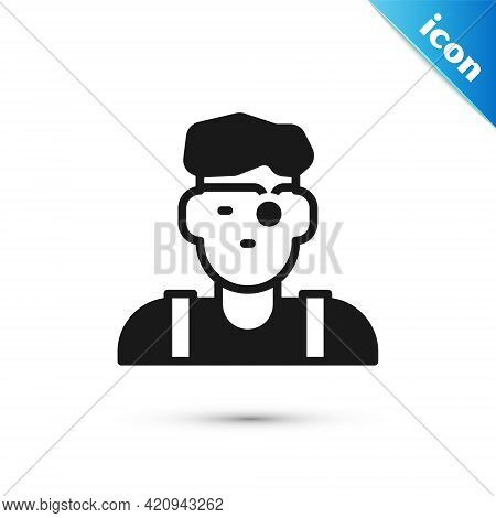 Grey Jeweler Man Icon Isolated On White Background. Vector