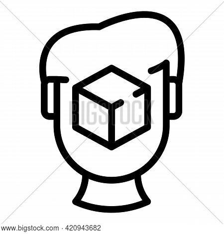Creative Ar Icon. Outline Creative Ar Vector Icon For Web Design Isolated On White Background