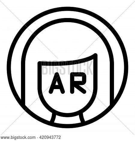 Vr Assistance Icon. Outline Vr Assistance Vector Icon For Web Design Isolated On White Background