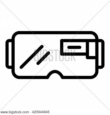 Gamer Goggles Icon. Outline Gamer Goggles Vector Icon For Web Design Isolated On White Background