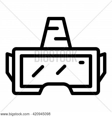 Goggles Simulation Icon. Outline Goggles Simulation Vector Icon For Web Design Isolated On White Bac