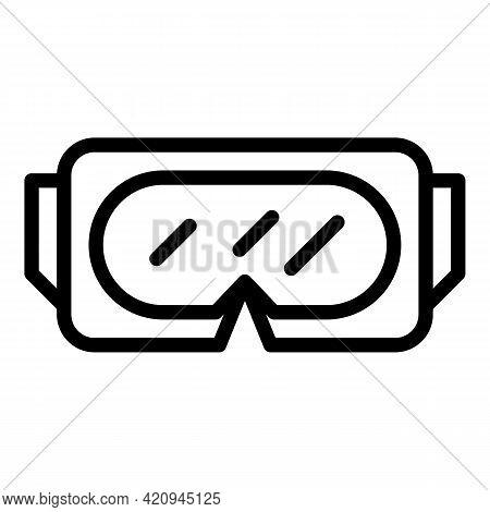 Explore Virtual Goggles Icon. Outline Explore Virtual Goggles Vector Icon For Web Design Isolated On