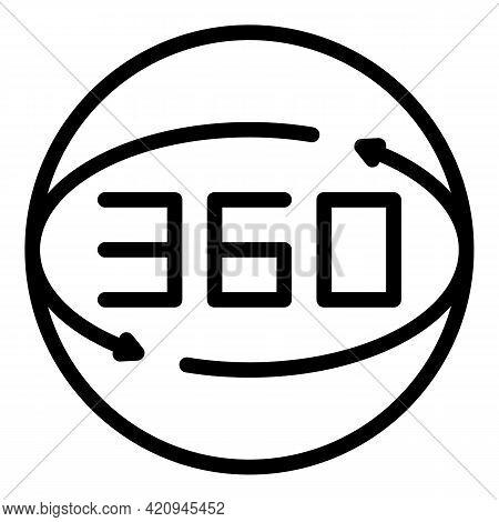 Virtual Angle Arrow Icon. Outline Virtual Angle Arrow Vector Icon For Web Design Isolated On White B