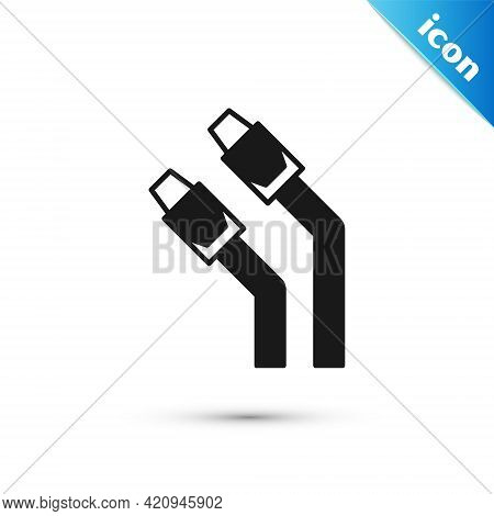 Grey Lan Cable Network Internet Icon Isolated On White Background. Vector