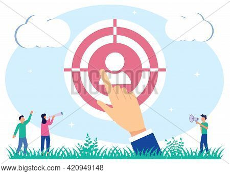 Vector Illustration Of Business Concept, Employee Recruitment, Business Firm Looking For Employees T