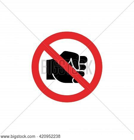 Stop Bullying Sign. Stop Bullying In The School. Verbal, Social, Physical, Cyberbullying Concept. So
