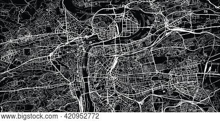 Urban Vector City Map Of Prague, Czech Republic, Europe