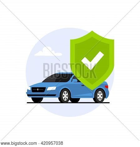 Car Insurance Policy Finance Form Money Concept. Car Insurance Icon Vector Document