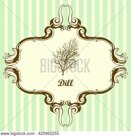 Dill Icon. Hand Drawn Sketch Design. Vector Illustration.