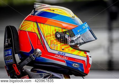 May 18, 2021 - Indianapolis, Indiana, USA: ALEX PALOU (10) of Barcelona, Spain prepares to practice for the 105th Running of The Indianapolis 500 at the Indianapolis Motor Speedway