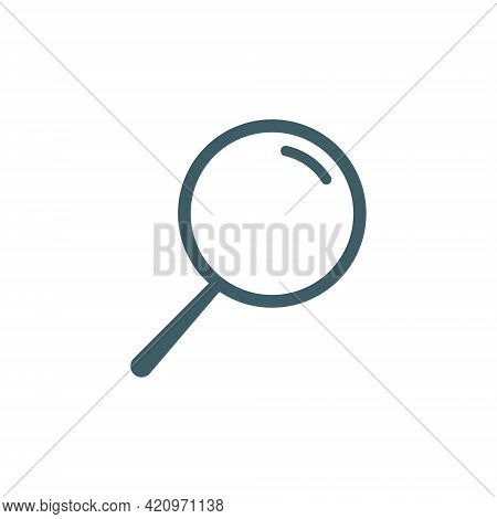 Magnifying Glass Icon. Search Symbol. Loupe Blue Sign. Zoom Instrument. Magnifier Lens Pictogram. Ve
