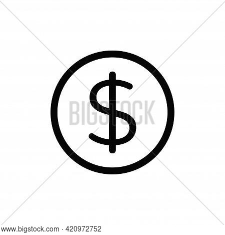 Dollar Icon Isolated On White Background. Dollar Icon In Trendy Design Style For Web Site And Mobile