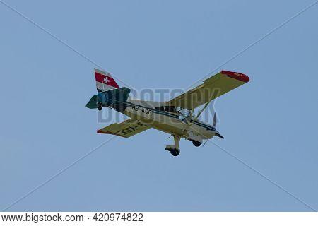 Maule M-7-235b Super Rocket Aircraft Is Approaching At The Airport Saint Gallen Altenrhein In Switze