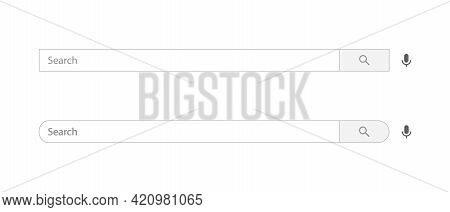 Search Bar Icon Of Channel. Website Searching Box Vector Illustration