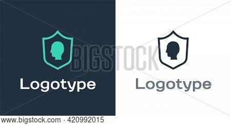 Logotype User Protection Icon Isolated On White Background. Secure User Login, Password Protected, P