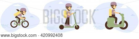 Online Delivery Service Concept, Online Order Tracking, Delivery Home And Office. Warehouse, Truck,