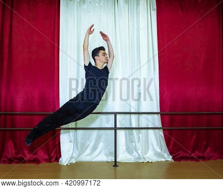 The Young Boy Dancing, Young Boy In Dancing Studio