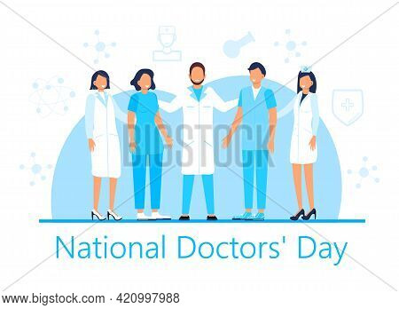 National Doctors Day Concept Vector. Medical, Healthcare Event Is Celebrated