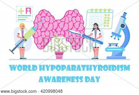 World Hypoparathyroidism Day Concept Vector. Medical, Health Care Event
