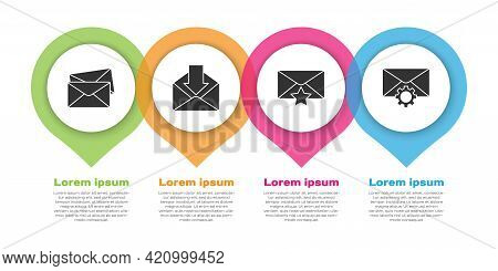 Set Envelope, Envelope, Envelope With Star And Envelope Setting. Business Infographic Template. Vect