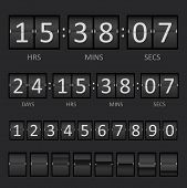 Vector Countdown Timer and Scoreboard Numbers. This is file of EPS10 format. poster