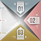 Abstract infographics design with paper numbered elements - vector illustration poster