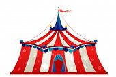 Circus marquee tent isolated poster