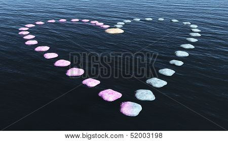 Heart Of Stones On The Water