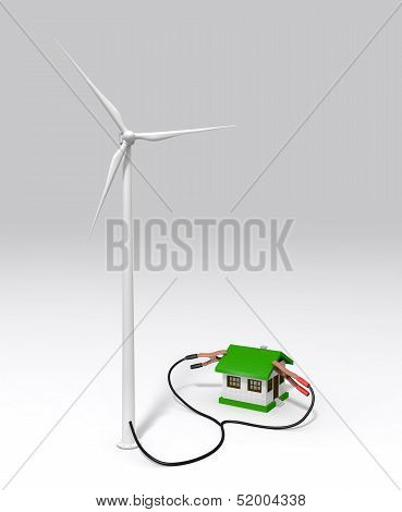 Wind Generator Charges A Small House